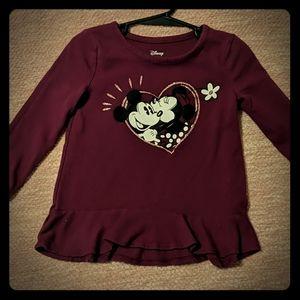 Purple, Mickey and Minnie long sleeve tee